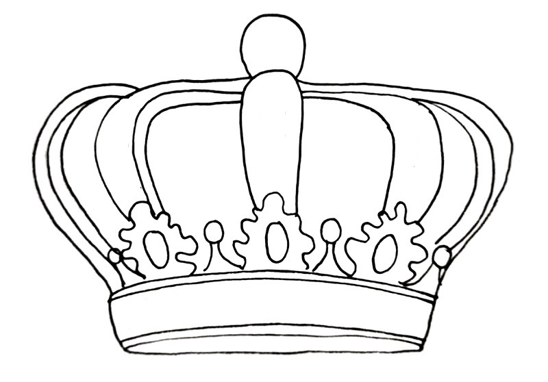 How to draw a crown step 12
