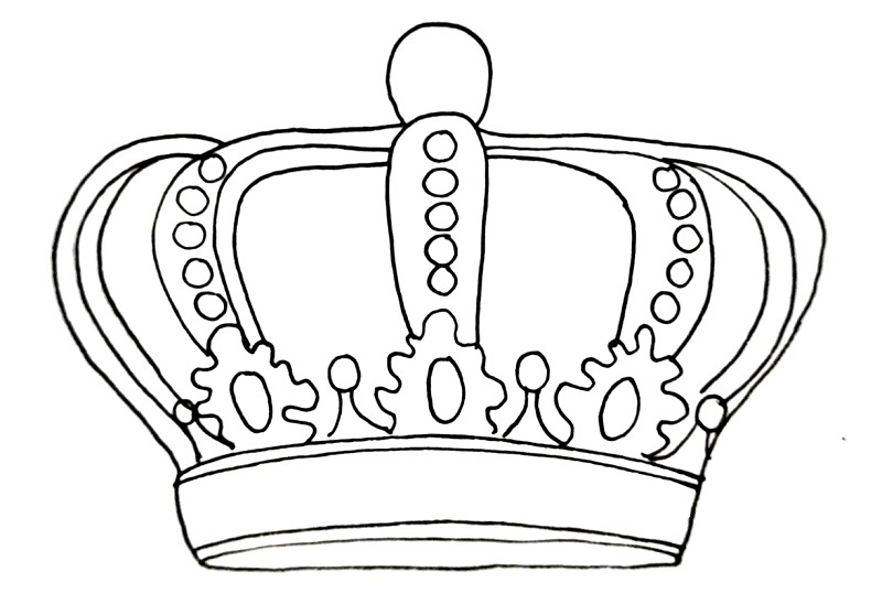 How to draw a crown step 13