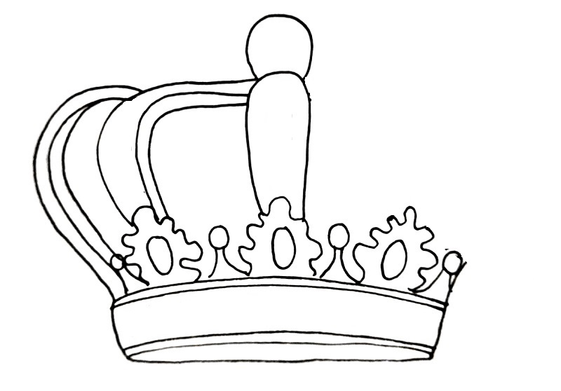 How to draw a crown step 9