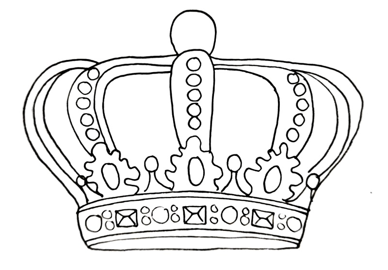 How to draw a crown step 14