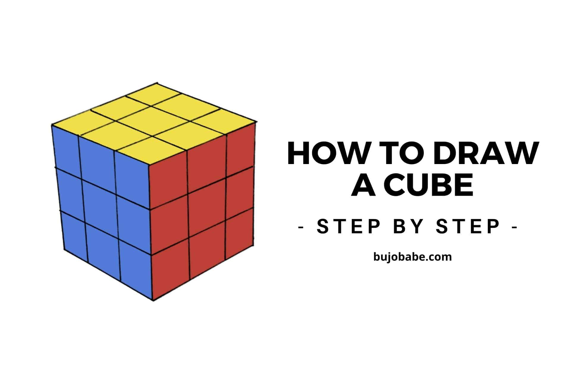 how to draw a cub step by step