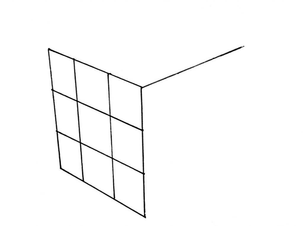 How to draw a cube step 4