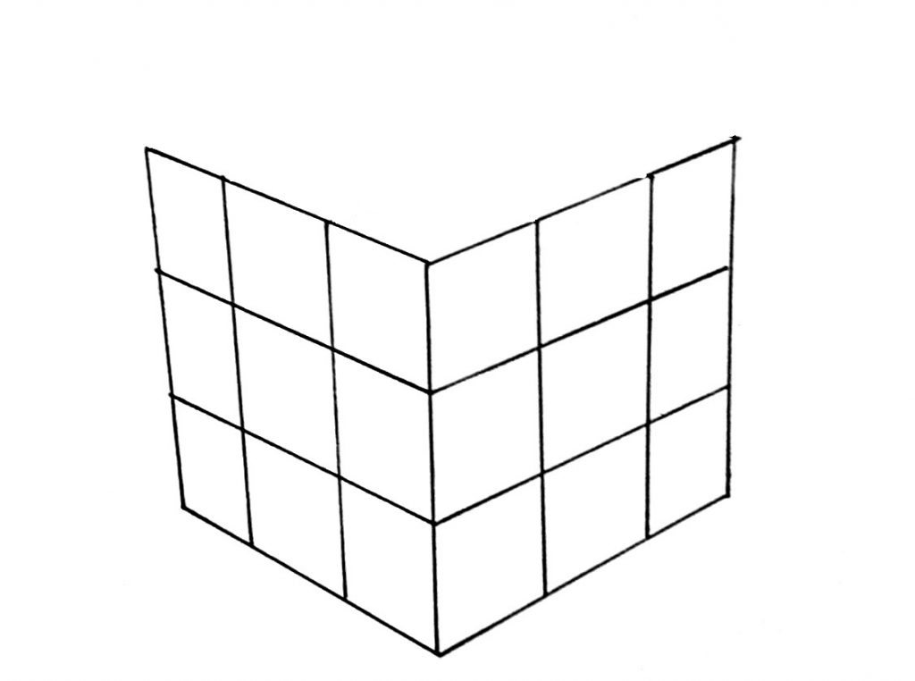 How to draw a cube step 5
