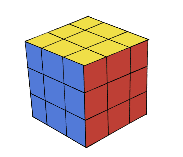 How to draw a cube step 6