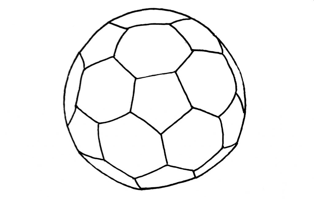how to draw a football step 6