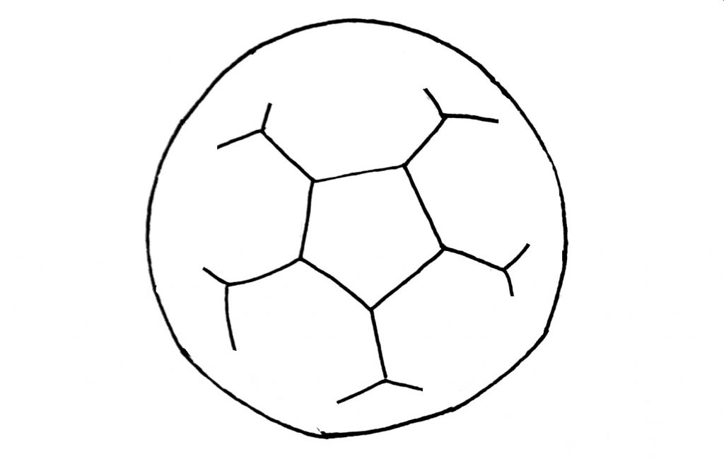 how to draw a football step 4