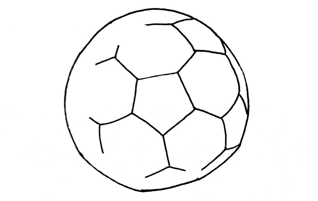 how to draw a football step 5