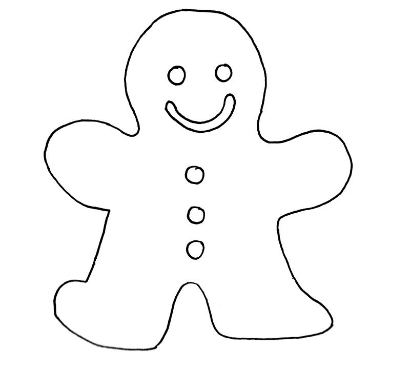 how to draw a gingerbread man step 8