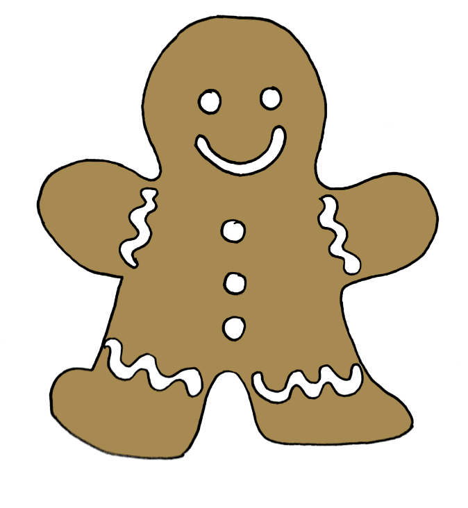 how to draw a gingerbread man step 9