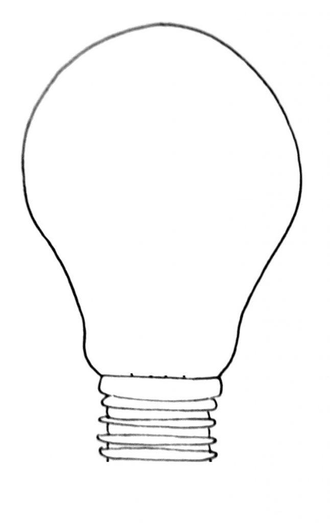How to draw a lightbulb step 5