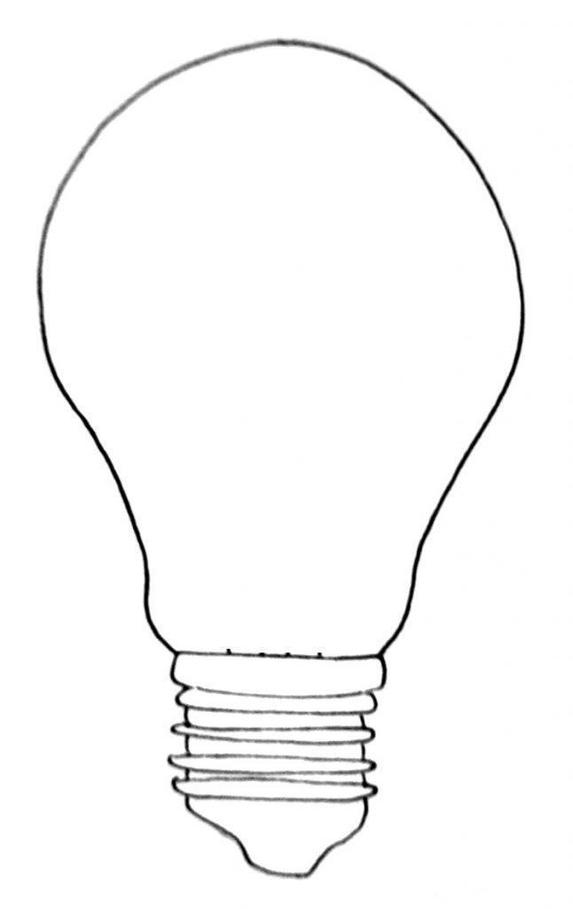 How to draw a lightbulb step 6
