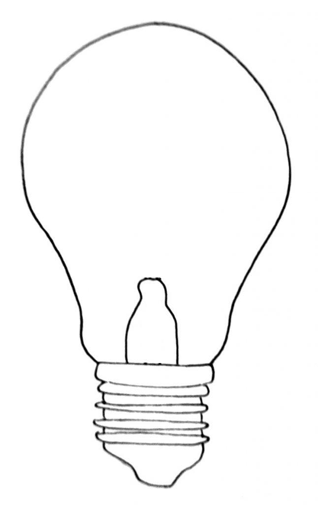 How to draw a lightbulb step 7