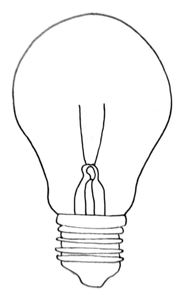 How to draw a lightbulb step 8