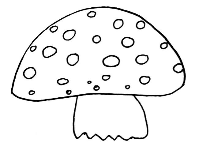 how to draw a mushroom step 4
