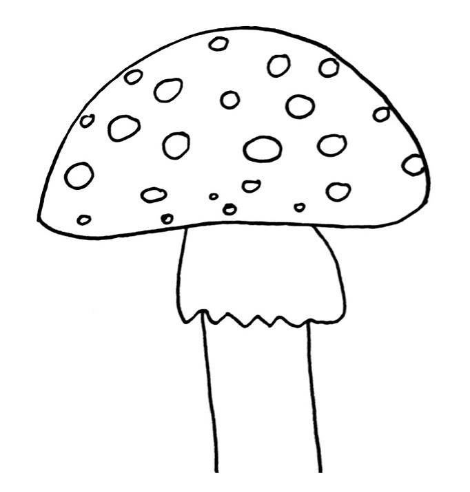 how to draw a mushroom step 5