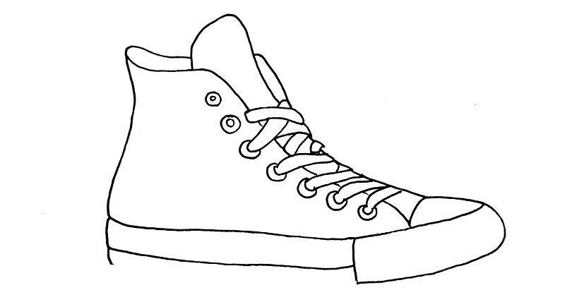 how to draw a shoe step 8