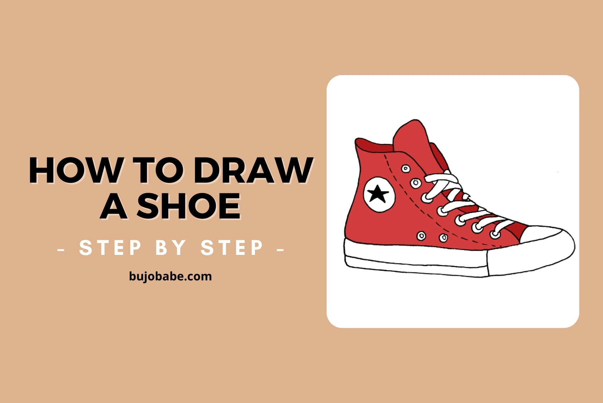 how to draw a shoe step by step