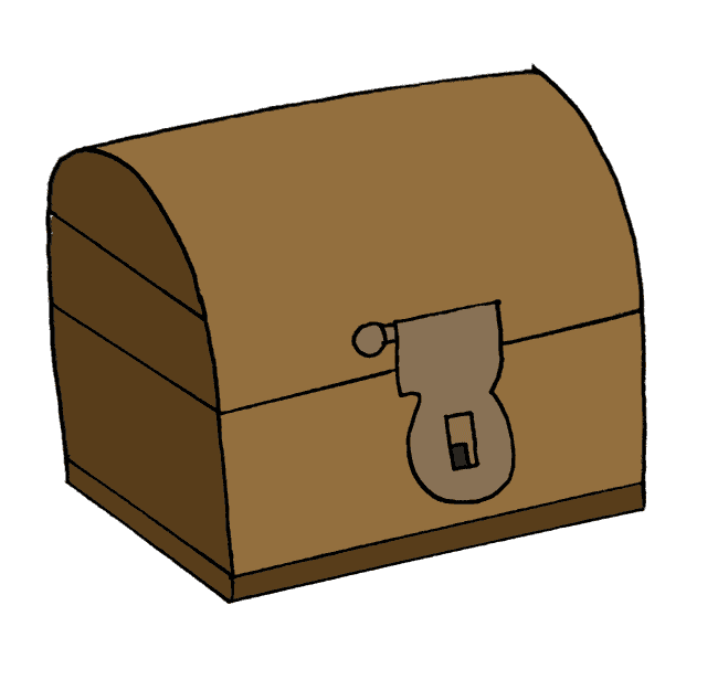 treasure chest drawing