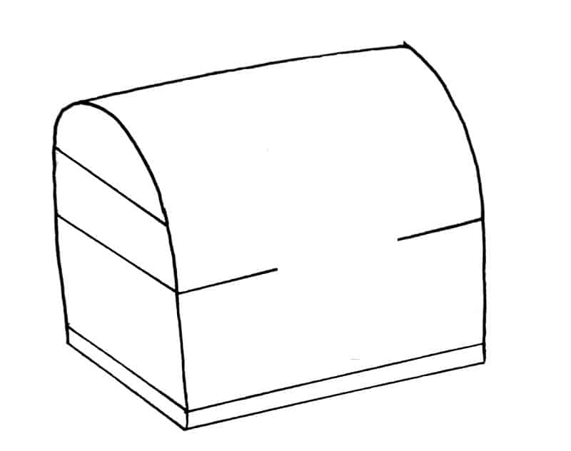 How to draw a treasure chest step 6