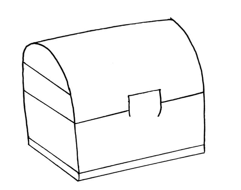 How to draw a treasure chest step 7