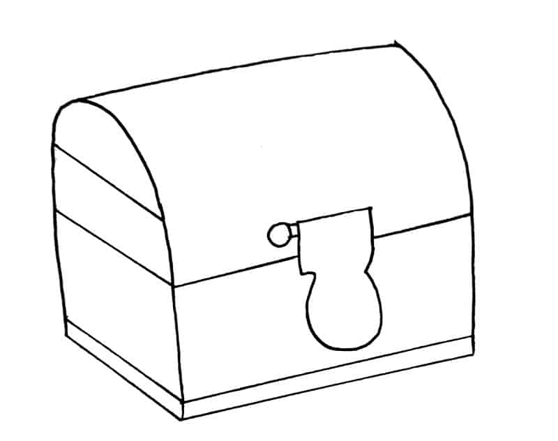 How to draw a treasure chest step 8