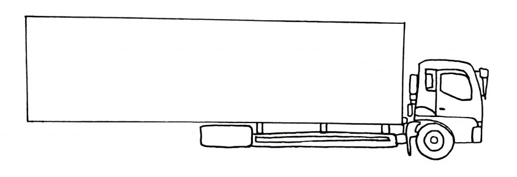 How to draw a truck step 6
