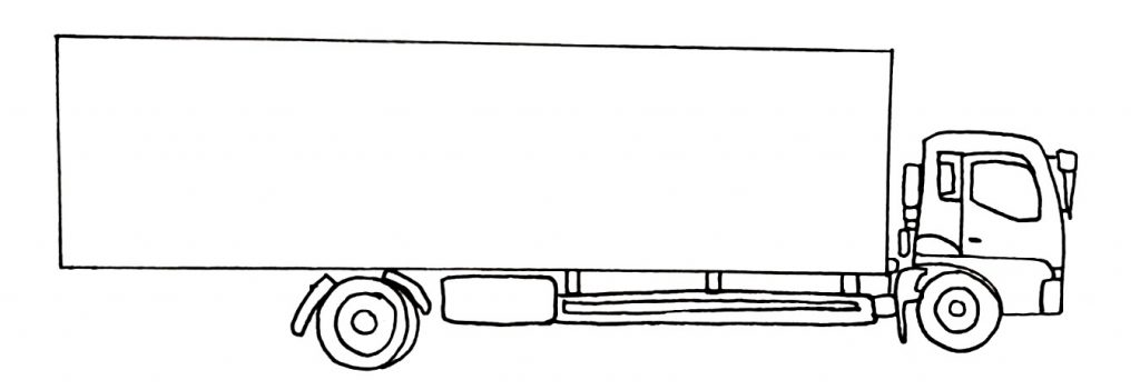 How to draw a truck step 7