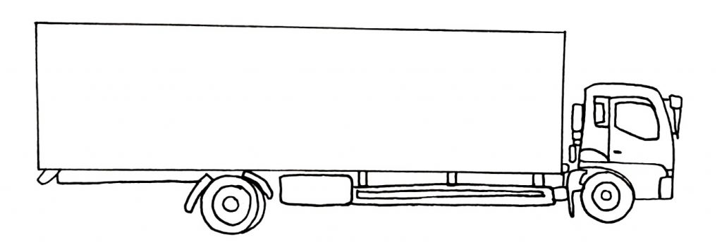 How to draw a truck step 8