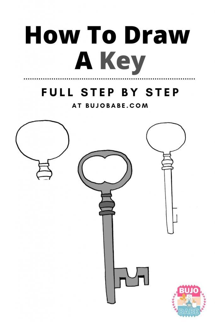 key drawing tutorial