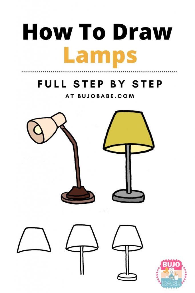 lamp drawing tutorial
