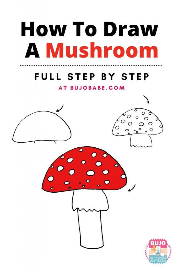 Mushroom Drawing Tutorial