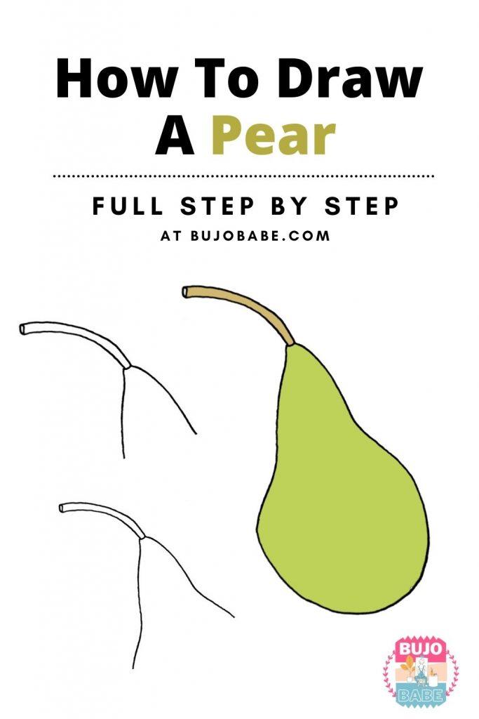 pear drawing tutorial