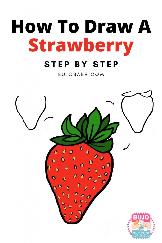 strawberry drawing tutorial
