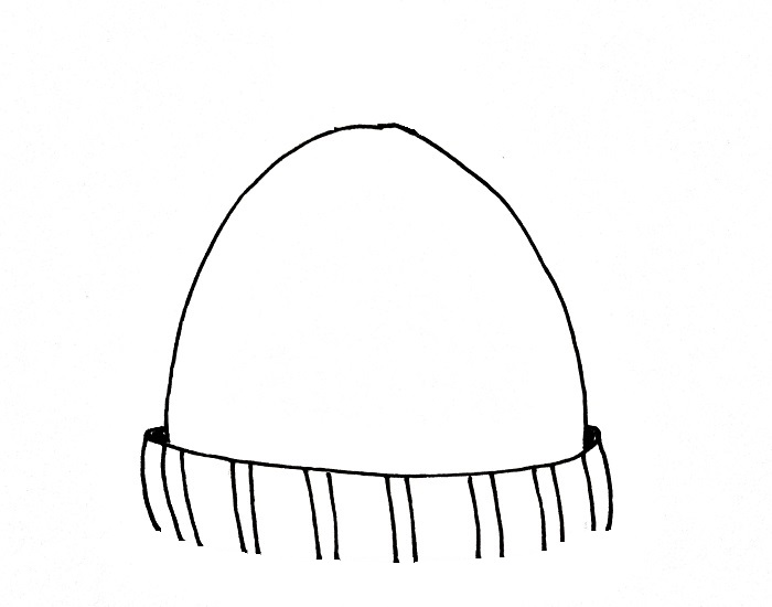 How To Draw A Beanie Step 4