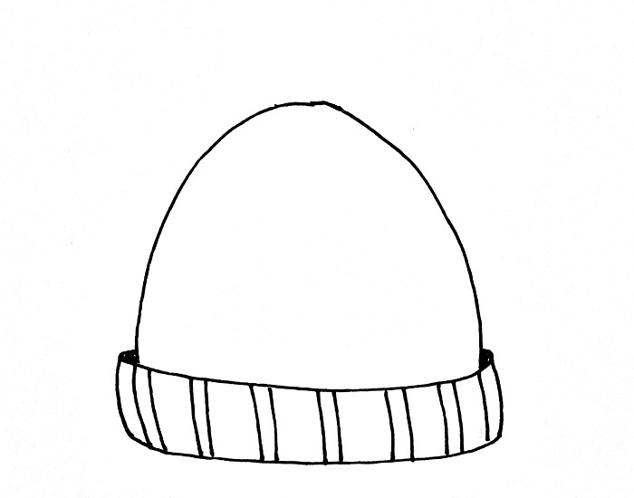 How To Draw A Beanie Step 5