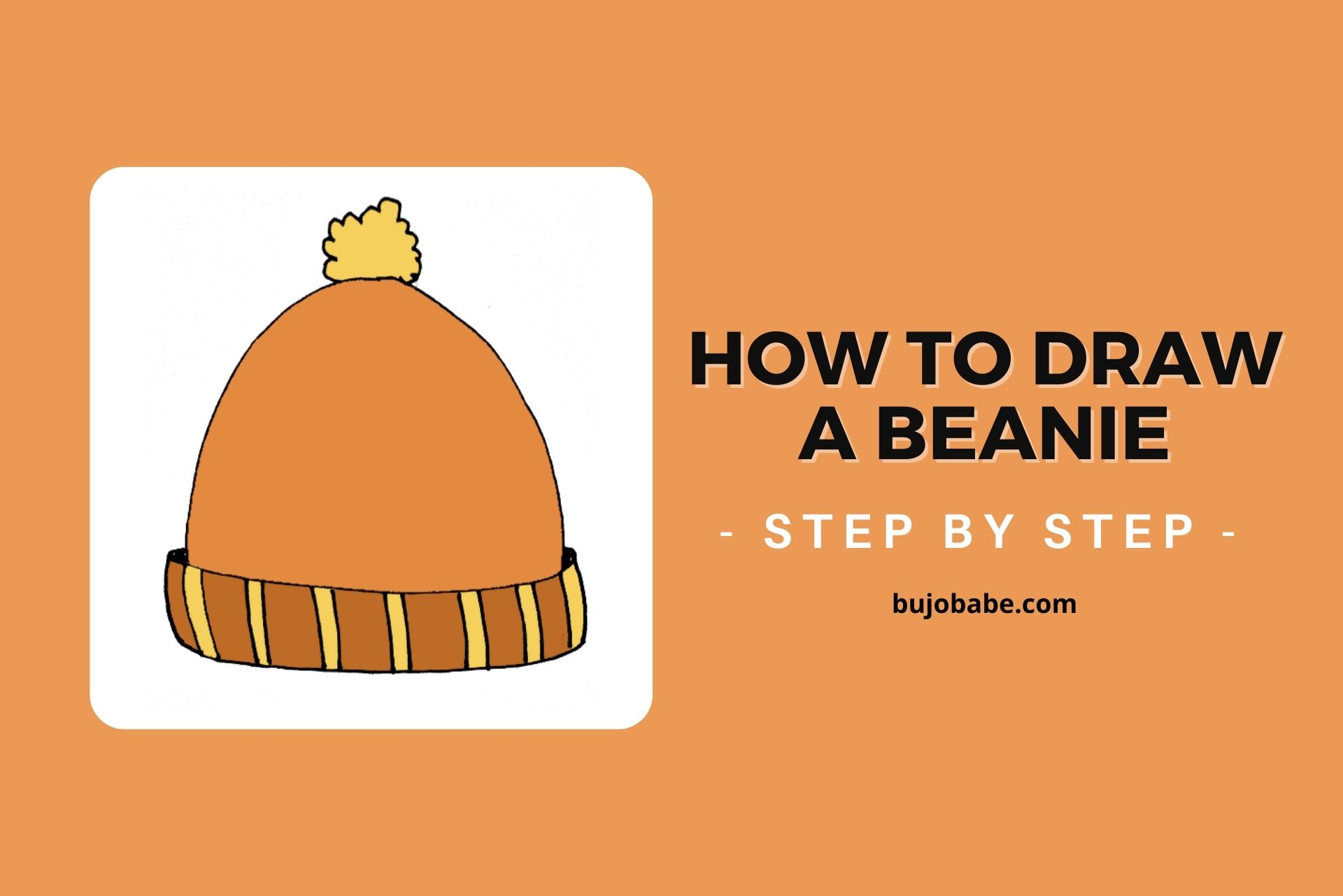 how to draw a beanie step by step