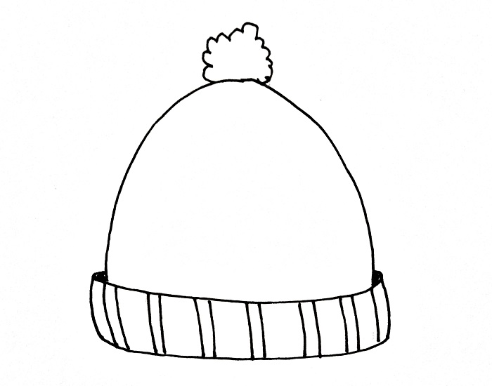 How To Draw A Beanie Step 6