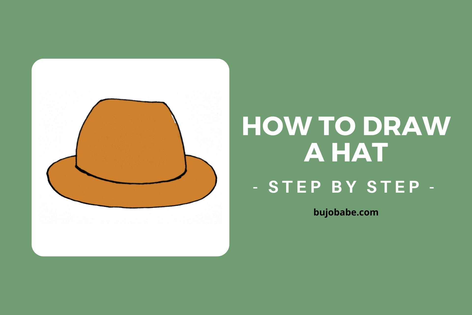 how to draw a hat step by step