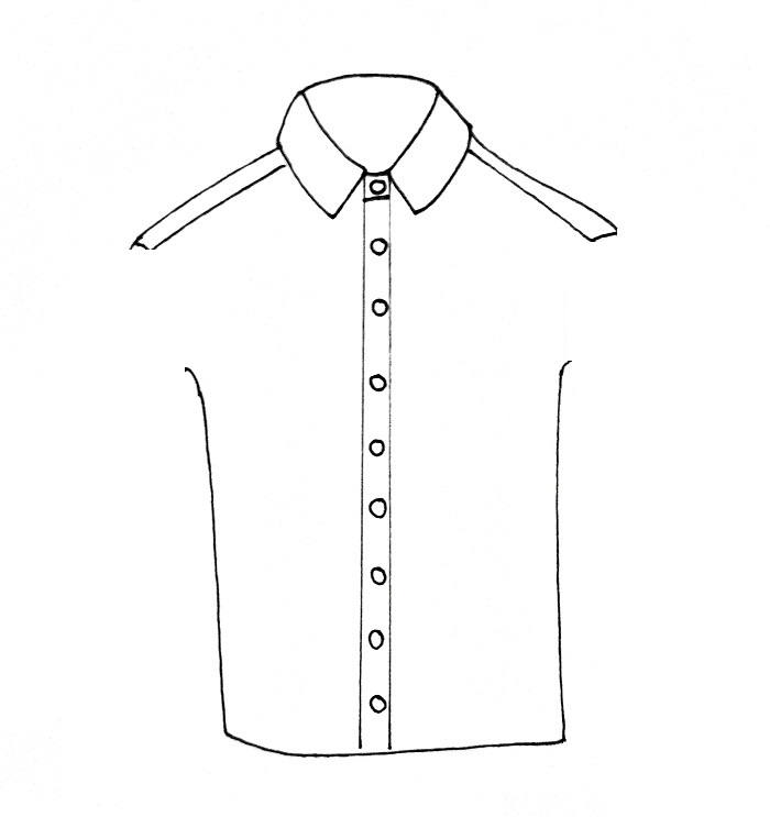 How To Draw A Shirt Step 5