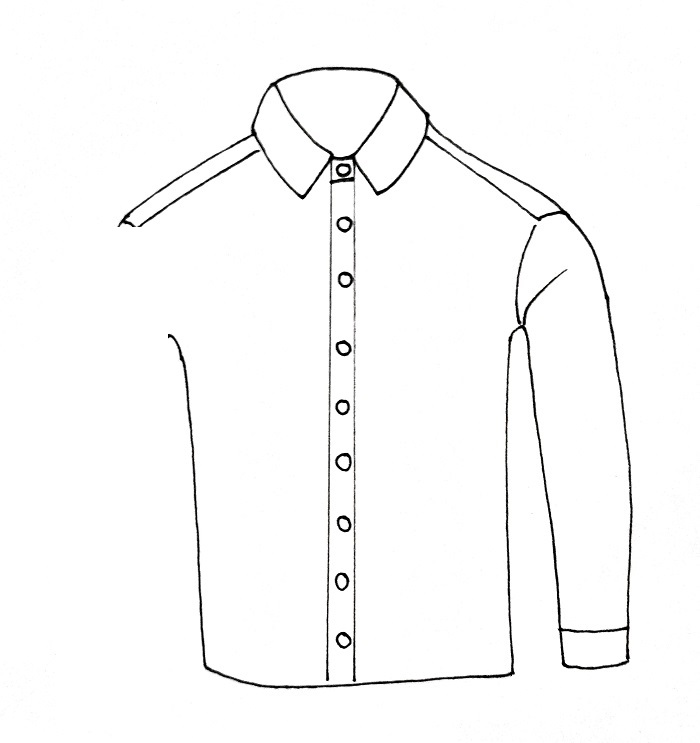 How To Draw A Shirt Step 6