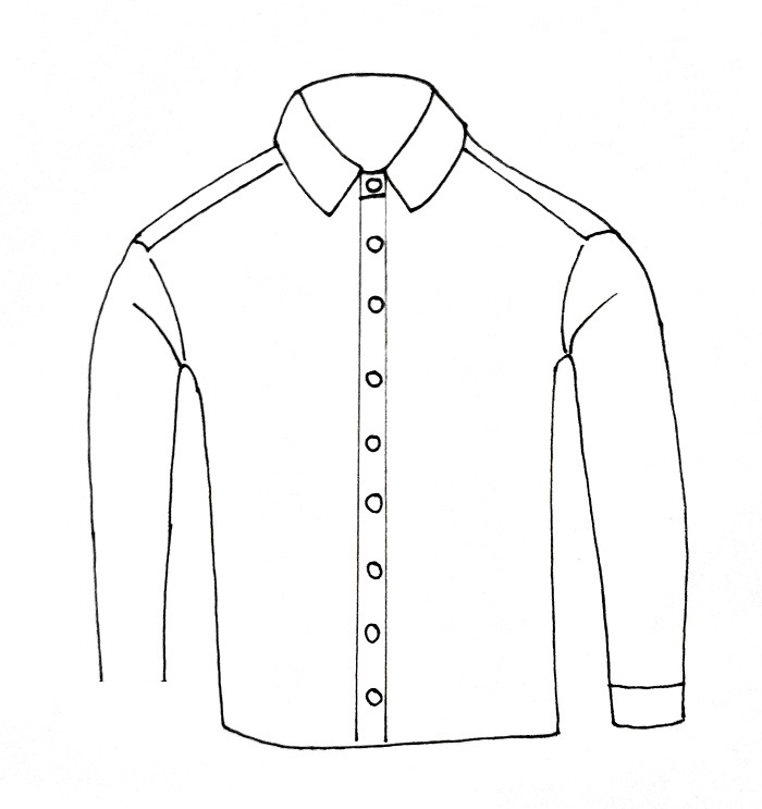 How To Draw A Shirt Step 7