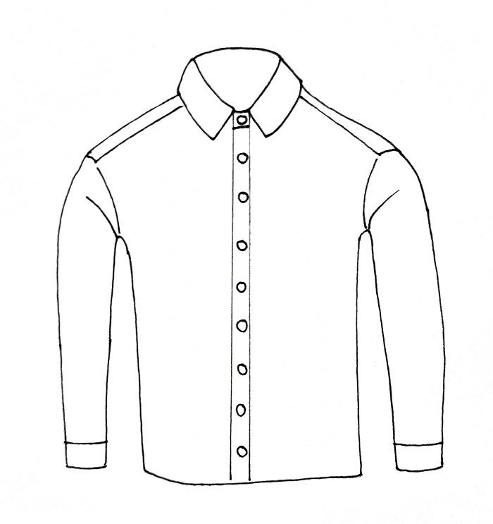 How To Draw A Shirt Step 8