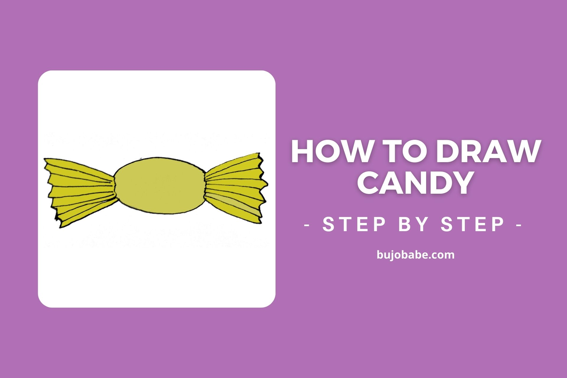 how to draw candy