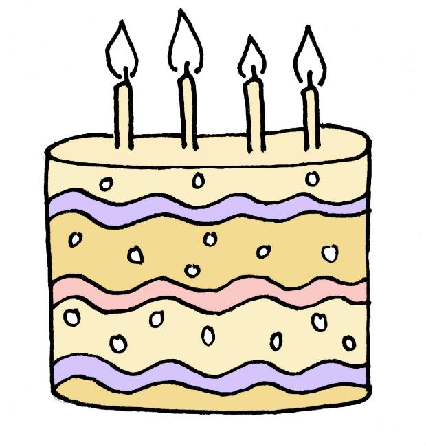 How To Draw A Birthday Cake Step 6