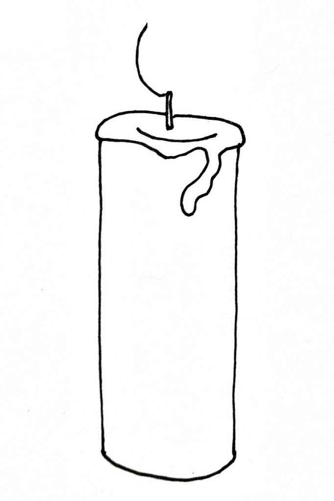 How To Draw A Candle Step 4