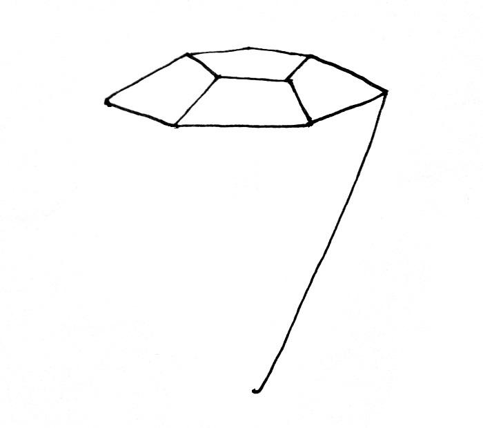 How To Draw A Diamond Step 3