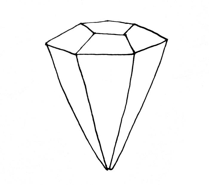 How To Draw A Diamond Step 5