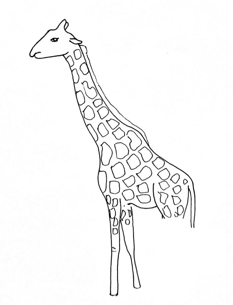 How to draw a giraffe step 4