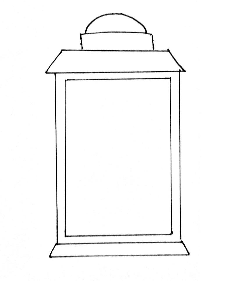 How To Draw A Lantern Step 5