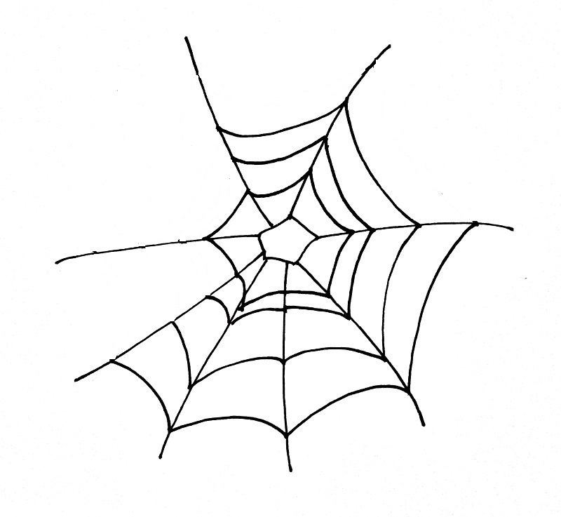 How To Draw A Spider Web Step 3